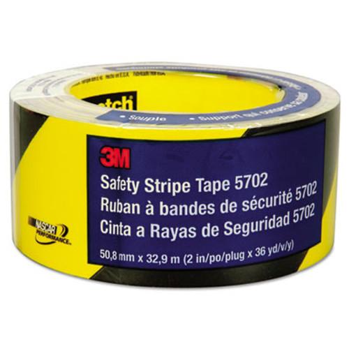 3M Caution Stripe Tape, 2w x 108ft Roll (MMM57022)