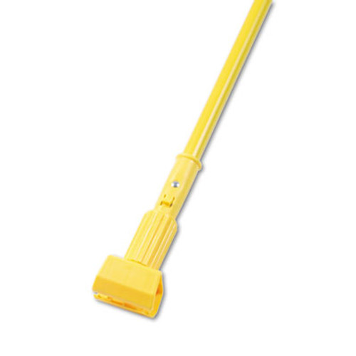 "Boardwalk Plastic Jaws Mop Handle for 5 Wide Mop Heads, 60"" Aluminum Handle, Yellow (BWK610)"