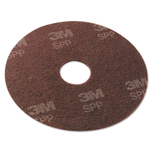 "Scotch-Brite Surface Preparation Pad, 20"" Diameter, Maroon, 10/Carton (MMMSPP20)"