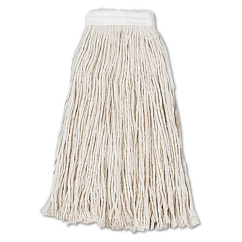Boardwalk Cut-End Wet Mop Head, Cotton, #16, White, 12/Carton (UNS2016CCT)