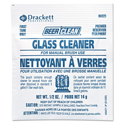 Diversey Beer Clean Glass Cleaner, Powder, .5oz Packet, 100/Carton (DVO990224)