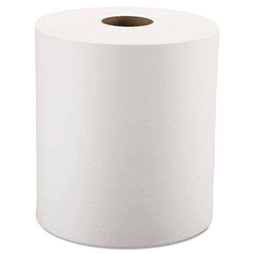 """Windsoft Nonperforated Roll Towels, 1-Ply, White, 8"""" x 800ft, 6 Rolls/Carton (WIN12906)"""