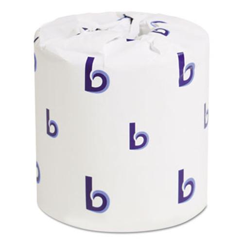 Boardwalk Bathroom Tissue, Standard, 2-Ply, White, 4 x 3 Sheet, 500 Sheets/Roll, 96/Carton (BWK6145)