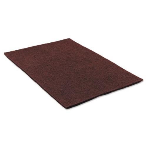 "Scotch-Brite Surface Preparation Pad Sheets, 14"" x 20"", Maroon, 10/Carton (MMM02590)"