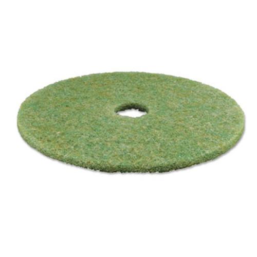 """3M Low-Speed TopLine Autoscrubber Floor Pads 5000, 20"""" Diameter, Green/Orange, 5/CT (MMM18052)"""