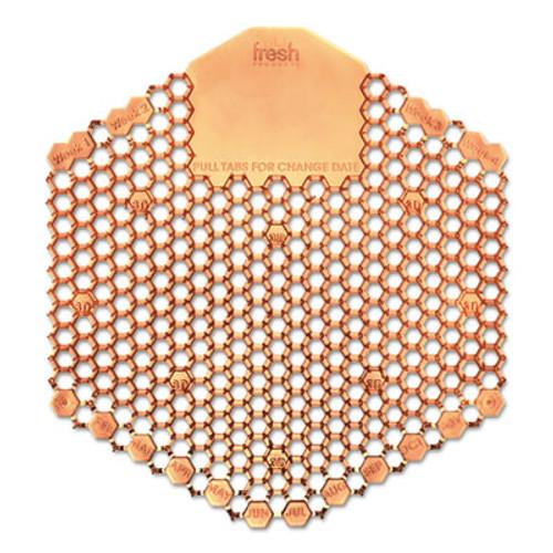 Fresh Products Wave 3D Urinal Deodorizer Screen, Orange, Mango Fragrance, 10 Screens/Box (FRS3WDS60MAN)