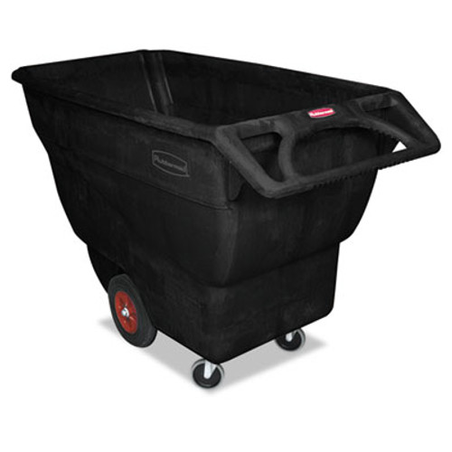 Rubbermaid Structural Foam Tilt Truck, Rectangular, 1000 lb. Cap., Black (RCP1013BLA)