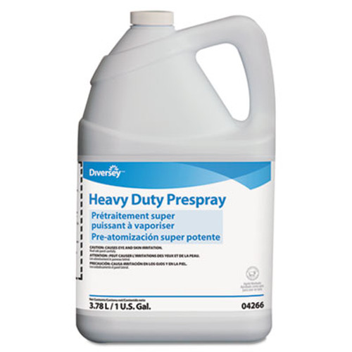 Diversey Carpet Cleanser Heavy-Duty Prespray, 1gal Bottle, Fruity Scent, 4/Carton (DVO904266)
