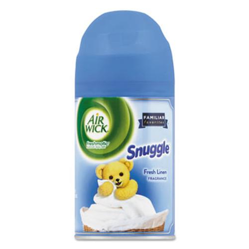 Air Wick Freshmatic Ultra Spray Refill, Snuggle Fresh Linen, Aerosol, 6.17 oz, 6/Carton (RAC82314CT)