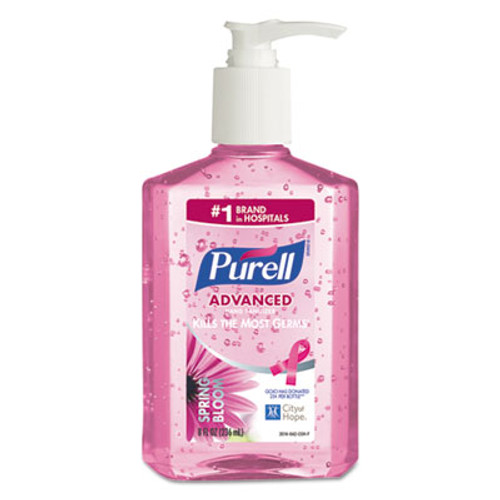 PURELL Spring Bloom Instant Hand Sanitizer, 8oz Pump Bottle, Pink, 12/Carton (GOJ301412CT)