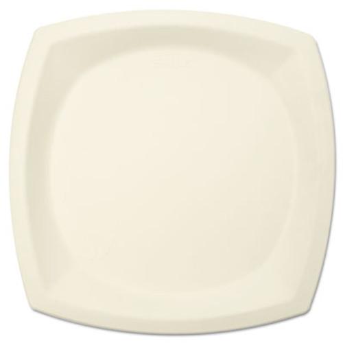 "Dart Bare Eco-Forward Sugarcane Dinnerware, 10"" dia, Plate, Ivory, 125/Pack (SCC10PSC2050CT)"