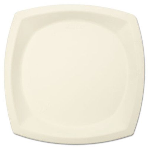 "Dart Bare Eco-Forward Sugarcane Dinnerware, 10"" dia, Plate, Ivory, 125/Pack (SCC10PSC2050CT)"