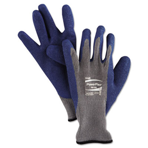 AnsellPro PowerFlex Gloves, Blue/Gray, Size 10, 1 Pair (ANS8010010PR)