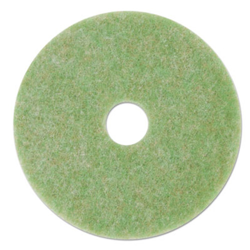 "3M Low-Speed TopLine Autoscrubber Floor Pads 5000, 12"" Diameter, Green/Amber, 5/CT (MMM18044)"