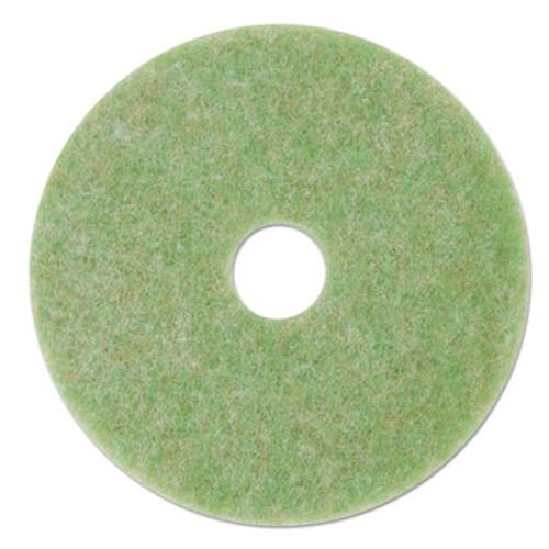 """3M Low-Speed TopLine Autoscrubber Floor Pads 5000, 12"""" Diameter, Green/Amber, 5/CT (MMM18044)"""