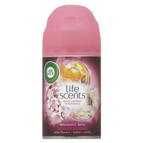 Air Wick Freshmatic Life Scents Ultra Refill, Summer Delights, 6.17 oz Aerosol, 6/Carton (RAC91101)