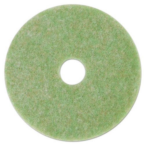 "3M Low-Speed TopLine Autoscrubber Floor Pads 5000, 13"" Diameter, Green/Amber, 5/CT (MMM18045)"