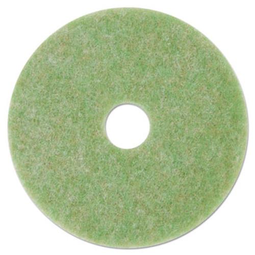 """3M Low-Speed TopLine Autoscrubber Floor Pads 5000, 13"""" Diameter, Green/Amber, 5/CT (MMM18045)"""