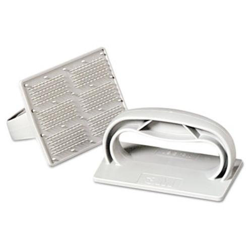 "3M Twist-Lok Pad Holder, 3 1/2"" x 4 3/4"", Light Gray, 10/Carton (MMM09493)"