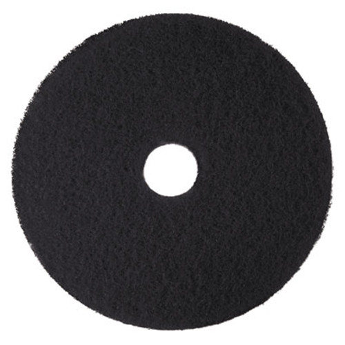 "3M Low-Speed High Productivity Floor Pads 7300, 14"" Diameter, Black, 5/Carton (MMM08272)"