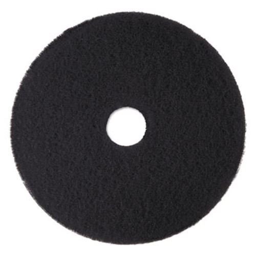 "3M Low-Speed High Productivity Floor Pads 7300, 15"" Diameter, Black, 5/Carton (MMM08273)"