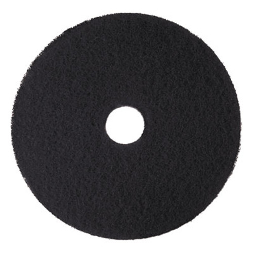 "3M Low-Speed High Productivity Floor Pads 7300, 18"" Diameter, Black, 5/Carton (MMM08276)"