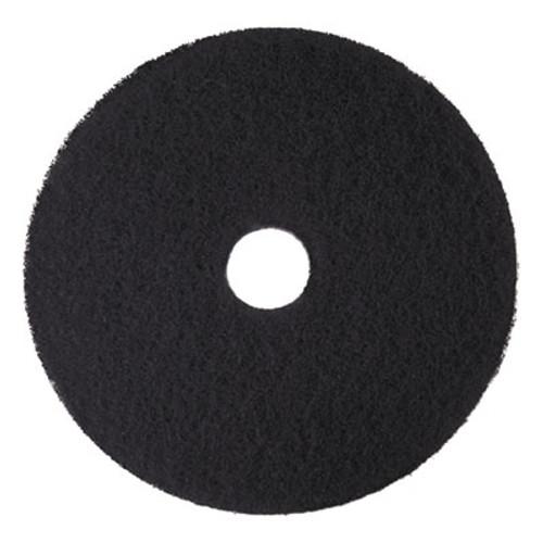 "3M Low-Speed High Productivity Floor Pads 7300, 18"" Diameter, Black, 5/Carton (MMM08276)"