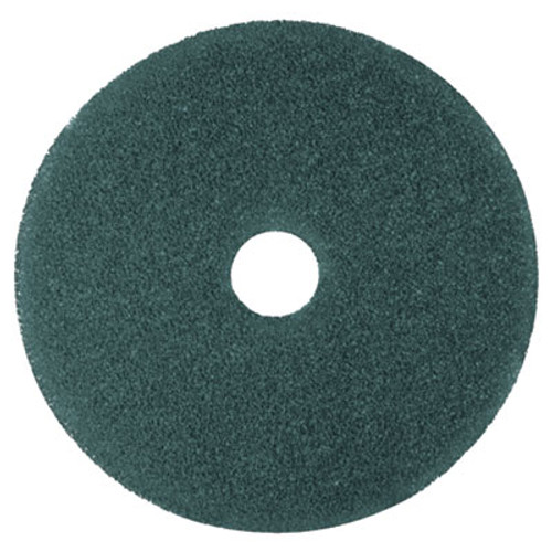 3M Low-Speed High Productivity Floor Pads 5300, 14-Inch, Blue, 5/Carton (MMM08407)