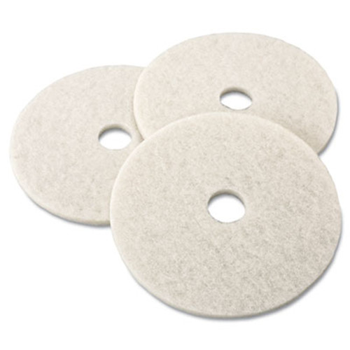 "3M Ultra High-Speed Natural Blend Floor Burnishing Pads 3300, 19"" Dia., White, 5/CT (MMM18209)"