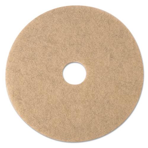 "3M Ultra High-Speed Natural Blend Floor Burnishing Pads 3500, 17"" Dia., Tan, 5/CT (MMM19005)"