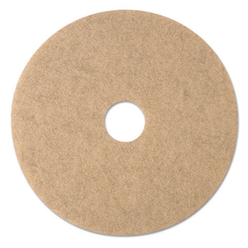 "3M Ultra High-Speed Natural Blend Floor Burnishing Pads 3500, 19"" Dia., Tan, 5/CT (MMM19007)"