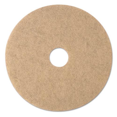 "3M Ultra High-Speed Natural Blend Floor Burnishing Pads 3500, 20"" Dia., Tan, 5/CT (MMM19008)"