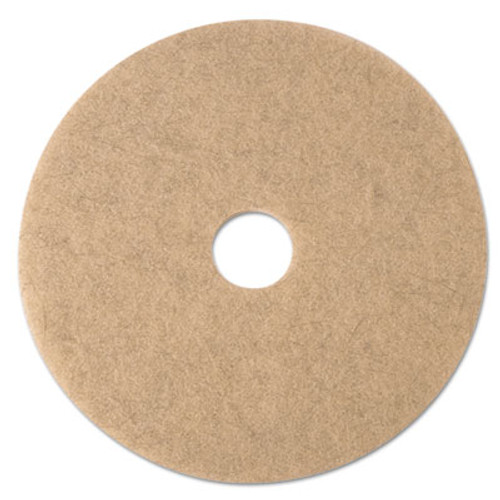 "3M Ultra High-Speed Natural Blend Floor Burnishing Pads 3500, 24"" Dia., Tan, 5/CT (MMM19012)"