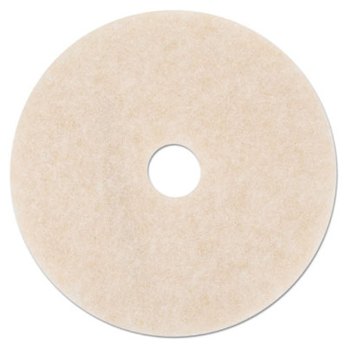 """3M Ultra High-Speed TopLine Floor Burnishing Pads 3200, 27"""" Dia., White/Amber, 5/CT (MMM20259)"""