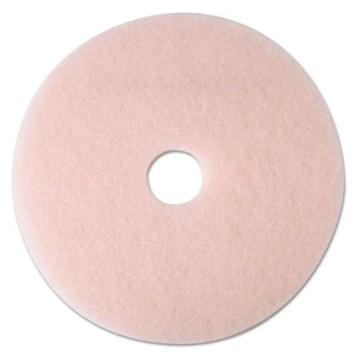 "3M Ultra High-Speed Eraser Floor Burnishing Pad 3600, 21"" Diameter, Pink, 5/Carton (MMM25859)"