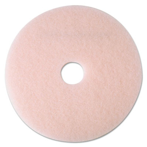 "3M Ultra High-Speed Eraser Floor Burnishing Pad 3600, 27 1/4"" Diameter, Pink, 5/CT (MMM25866)"