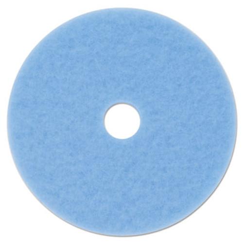 "3M Sky Blue Hi-Performance Burnish Pad 3050, 27"" dia, 5/Carton (MMM59824)"
