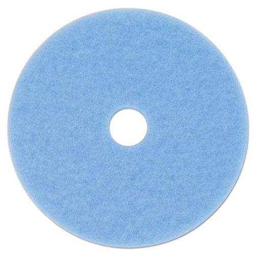 "3M Sky Blue Hi-Performance Burnish Pad 3050, 20"" Diameter, Sky Blue, 5/Carton (MMM59825)"