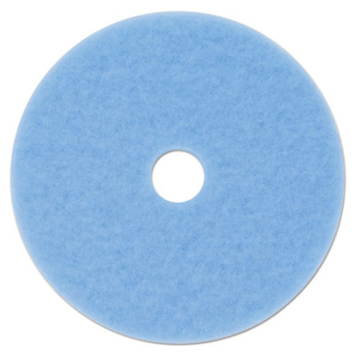 "3M Sky Blue Hi-Performance Burnish Pad 3050, 17"" Diameter, Sky Blue, 5/Carton (MMM59826)"