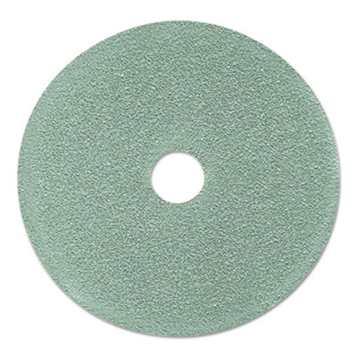 "3M Ultra High-Speed Floor Burnishing Pads 3100, 24"" Diameter, Aqua, 5/Carton (MMM17438)"