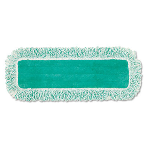 "Rubbermaid Dust Pad w/Fringe, Microfiber, 18"" Long, Green, 6/Carton (RCPQ418GNCT)"