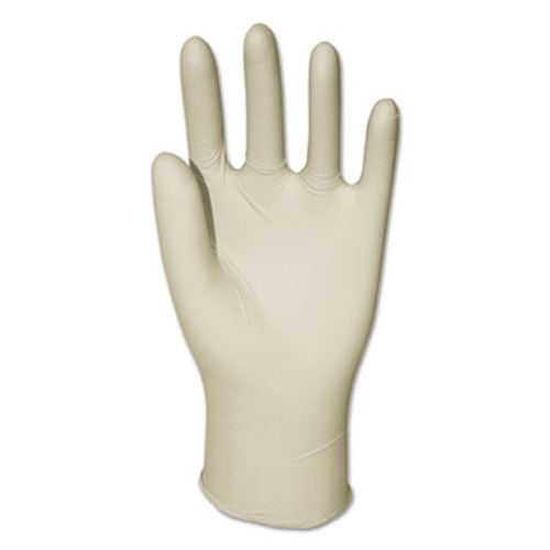 Boardwalk General-Purpose Latex Gloves, Powder-Free, 4.4 mil, Medium, Natural, 100/Box (BWK345MBX)
