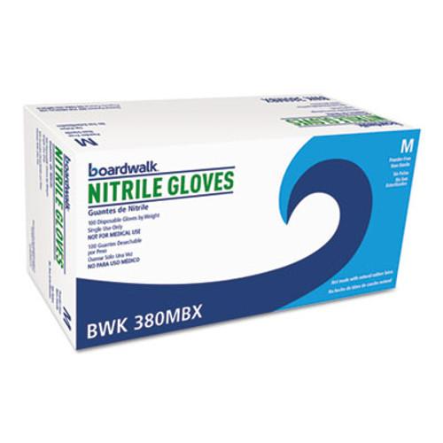 Boardwalk Disposable General-Purpose Nitrile Gloves, Medium, Blue, 100/Box (BWK380MBX)