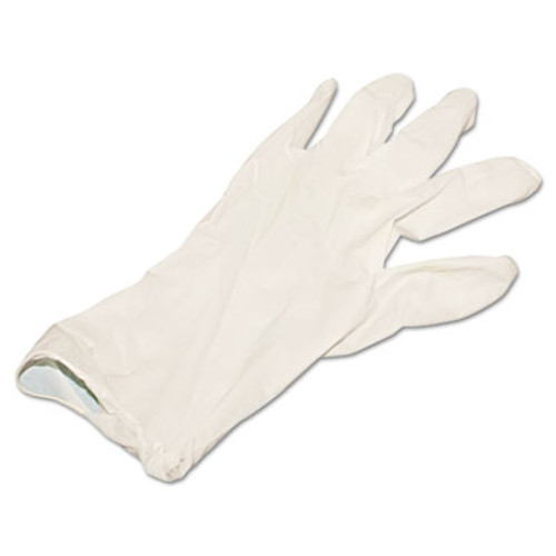 Boardwalk Powder-Free Synthetic Vinyl Gloves, Large, Beige, 4 mil, 100/Box (BWK315LBX)