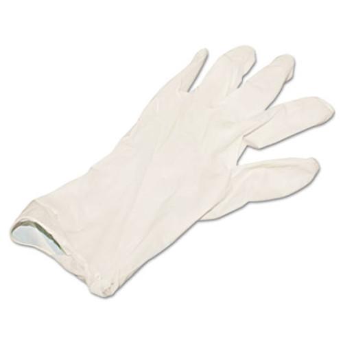 Boardwalk Powder-Free Synthetic Vinyl Gloves, Large, Beige, 4 mil, 100/Box (BWK315LBX)