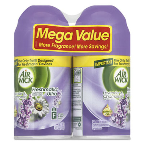 Air Wick Freshmatic Ultra Spray Refill, Lavender/Chamomile, Aerosol, 6.17oz,2/PK, 3 PK/CT (RAC85595)