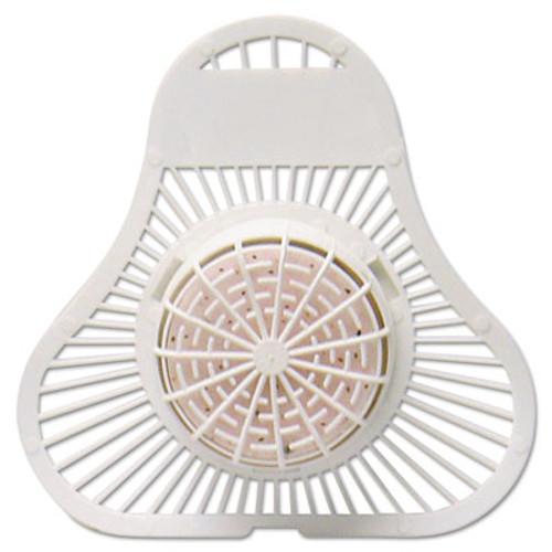 Fresh Products ParaZyme Urinal Screen w/Block, 30 Days, White, Springtime Fragrance, Dozen (FRSPP123USPBSF)