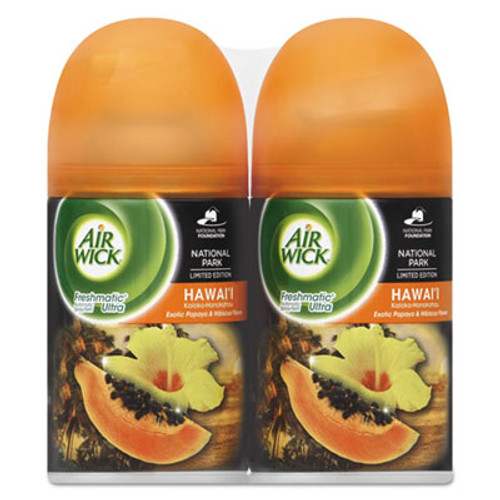 Air Wick Freshmatic Refill, Hawaii Exotic Papaya/Hibiscus Flower, 6.17 oz, 2/PK ,3PK/CT (RAC88204)
