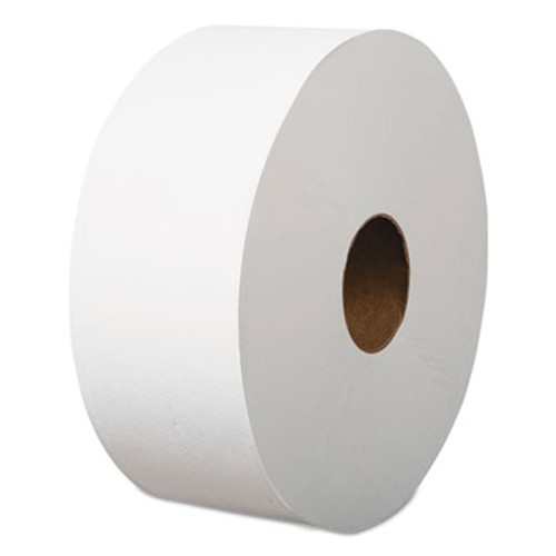 "Boardwalk Jumbo Roll Bathroom Tissue, 1-Ply, White, 3.4"" x 1200 ft, 12 Rolls/Carton (BWK410319)"