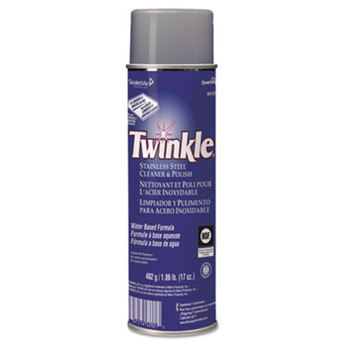 Twinkle Stainless Steel Cleaner & Polish, 17oz Aerosol, 12/Carton (DVO991224)